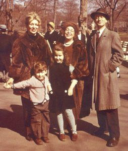 Basch Family on the Mall in Central Park